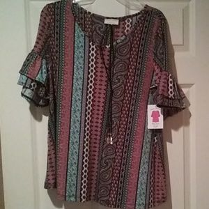 Tops - Boutique shirt & necklace
